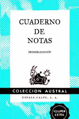 CUADERNO DE NOTAS AZUL 9X14CM