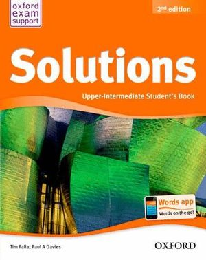 SOLUTIONS UPPER INTERMEDIATE STUDENT'S BOOK PACK 2ª EDICIÓN