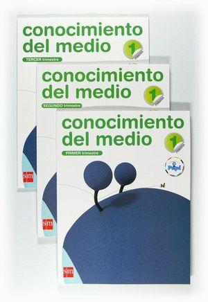 CONOCIMIENTO DEL MEDIO. 1 PRIMARIA. CONECTA CON PUPI. TRIMESTRES
