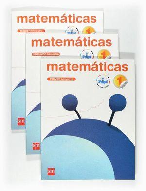 MATEMÁTICAS. 1 PRIMARIA. CONECTA CON PUPI. TRIMESTRES