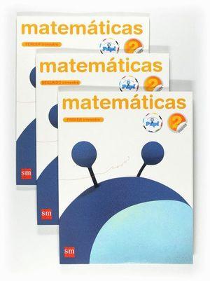 MATEMÁTICAS. 2 PRIMARIA. CONECTA CON PUPI. TRIMESTRES