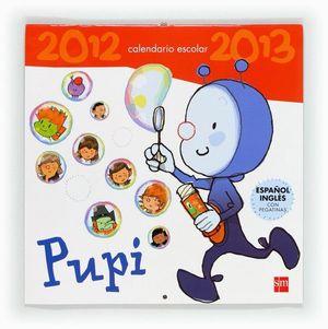 PUPI. CALENDARIO ESCOLAR 2012 - 2013