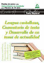 LENGUA CASTELLANA, COMENTARIO DE TEXTO Y DESARROLLO DE UN TEMA DE ACTUALIDAD (2015)