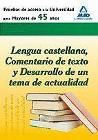 LENGUA CASTELLANA COMENTARIO TEXTO Y DESARROLLO TEMA ACTUALIDAD (2011)