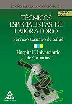 TÉCNICOS ESPECIALISTAS DE LABORATORIO DEL SERVICIO CANARIO DE SALUD/HOSPITAL UNI