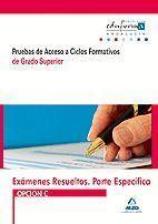 EXÁMENES RESUELTOS DE PRUEBAS DE ACCESO A CICLOS FORMATIVOS DE GRADO SUPERIOR. P
