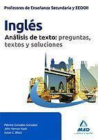 CUERPO DE PROFESORES DE ENSEÑANZA SECUNDARIA, INGLÉS. ANÁLISIS DE TEXTOS: PREGUN