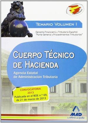 CUERPO TÉCNICO DE HACIENDA.AGENCIA ESTATAL DE ADMINISTRACIÓN TRIBUTARIA. TEMARIO
