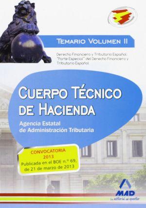 CUERPO TÉCNICO DE HACIENDA.AGENCIA ESTATAL DE ADMINISTRACIÓN TRIBUTARIA TEMARIO