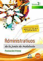 ADMINISTRATIVOS DE LA JUNTA DE ANDALUCIA. PROMOCION INTERNA. VOLUMEN II