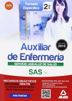 AUXILIAR ENFERMERÍA DEL SERVICIO ANDALUZ DE SALUD. TEMARIO ESPECÍFICO VOL 2