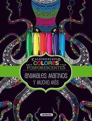 ANIMALES MARINOS Y MUCHO MAS (CAJA CON COLORES + LAMINAS)
