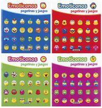 EMOTICONOS PEGATINAS Y JUEGOS (4 TÍTULOS)
