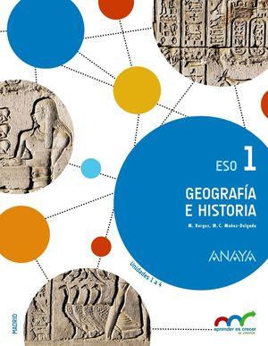 GEOGRAFIA E HISTORIA 1º ESO TRIMESTRES MADRID 2015