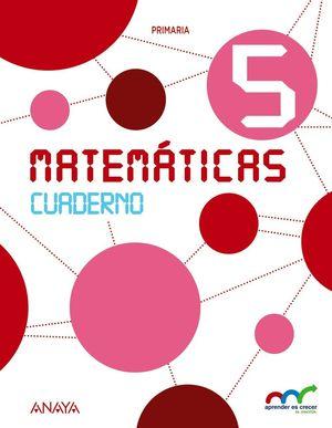 MATEMÁTICAS 5. CUADERNO ANDALUCIA 2015