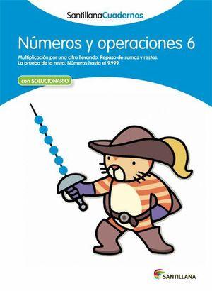 NUMEROS Y OPERACIONES 6 CON SOLUCIONES 2012