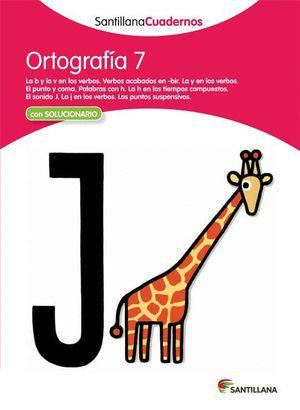 ORTOGRAFIA 7 CON SOLUCIONES 2012