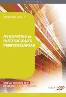 AYUDANTES DE INSTITUCIONES PENITENCIARIAS. TEMARIO  VOL. II.