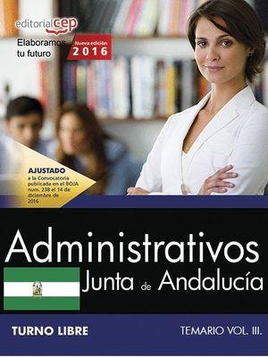 ADMINISTRATIVOS TEMARIO VOL.3 2016 TURNO LIBRE JUNTA DE ANDALUCIA