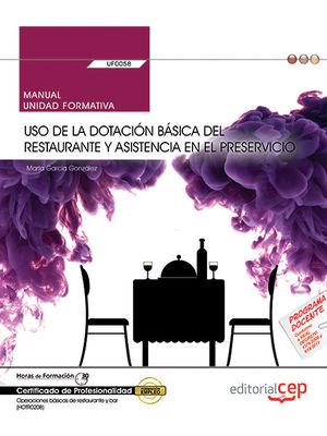 MANUAL USO DE LA DOTACION BASICA DEL RESTAURANTE Y