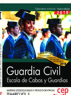 GUARDIA CIVIL. ESCALA DE CABOS Y GUARDIAS. TEMARIO VOL. II 2018