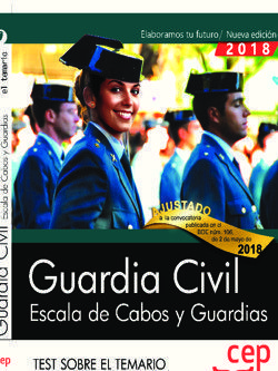 GUARDIA CIVIL. ESCALA DE CABOS Y GUARDIAS. TEST. 2018