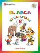EL ARCA DE LAS LETRAS. LETRAS 5 (F,G(GU),J,LL...