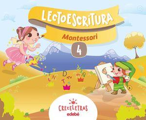 CRECELETRAS LECTOESCRITURA 4 MONTESSORI