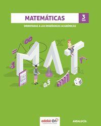 MATEMÁTICAS ACADÉMICAS 3º ESO ANDALUCIA 2020