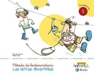 LECTOESCRITURA LETRAS DIVERTIDAS CUADERNO 1 (PAUTA)(3 AÑOS)