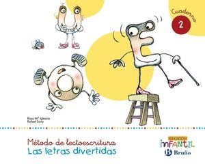 LECTOESCRITURA LETRAS DIVERTIDAS CUAD.2 (PAUTA)(3 AÑOS)