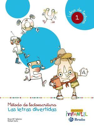 LECTOESCRITURA LETRAS DIVERTIDAS LIBRO LECTURA 1 (4 AÑOS)