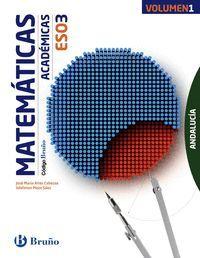 MATEMATICAS ACADEMICAS 3ºESO TRIMESTRES 2016 CODIG