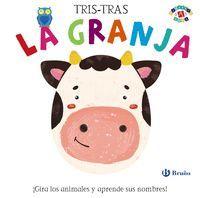 TRIS-TRAS LA GRANJA GIRA LOS ANIMALES Y APRENDE SU NOMBRES