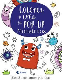 COLOREA Y CREA TU POP-UP.MONSTRUOS