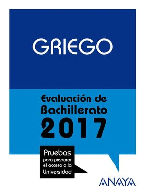 GRIEGO EVALUACIN DE BACHILLERATO 2017 PAU
