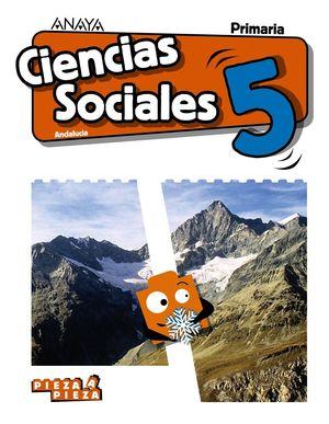 CIENCIAS SOCIALES 5ºEP. PIEZA A PIEZA. ANDALUCÍA 2019