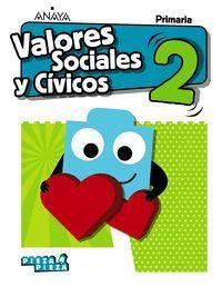 VALORES SOCIALES Y CÍVICOS 2 EP PIEZA A PIEZA