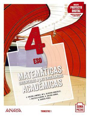 MATEMÁTICAS ORIENTADAS ACADÉMICAS 4º ESO TRIMESTRES