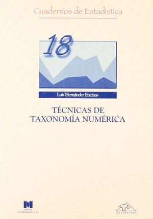 TECNICAS DE TAXONOMIA NUMERICA