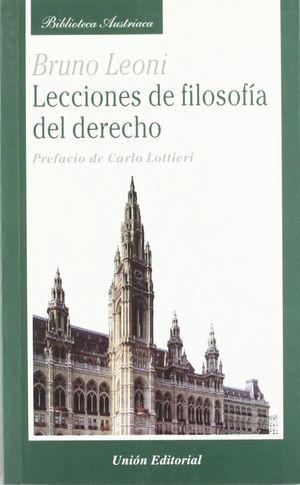 LECCIONES  DE FILOSOFÍA DEL DERECHO