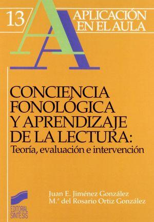 CONCIENCIA FONOLÓGICA Y APRENDIZAJE DE LECTURA