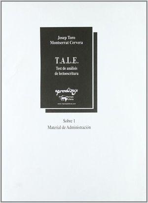 T.A.L.E. SOBRE 1 TEST DE ANALISI DE LECTOESCRITURA