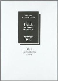 T.A.L.E. SOBRE 3 REGISTRO DE ESCRITURA