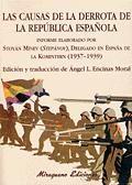 CAUSAS DE LA DERROTA DE LA REPUBLICA ESPAÑOLA ,LAS (1937-1939)