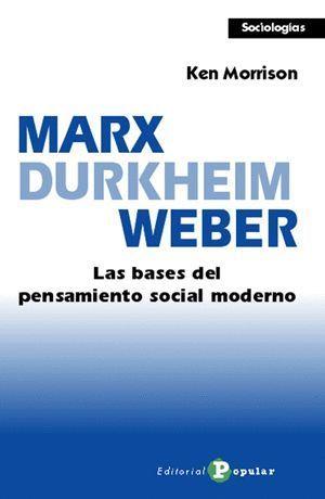 MARX, DURKHEIM, WEBER