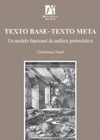 TEXTO BASE-TEXTO META.UN MODELO FUNCIONAL DE ANÁLISIS PRETRASLATIVO