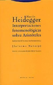INTERPRETACIONES FENOMENOLÓGICAS SOBRE ARISTÓTELES