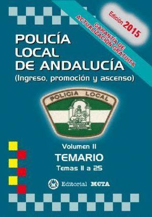 POLICIA LOCAL ANDALUCIA TEMARIO 2017 VOL.II TEMAS 13 A 25