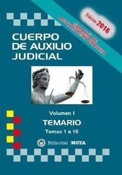 CUERPO DE AUXILIO JUDICIAL TEMARIO VOL.I